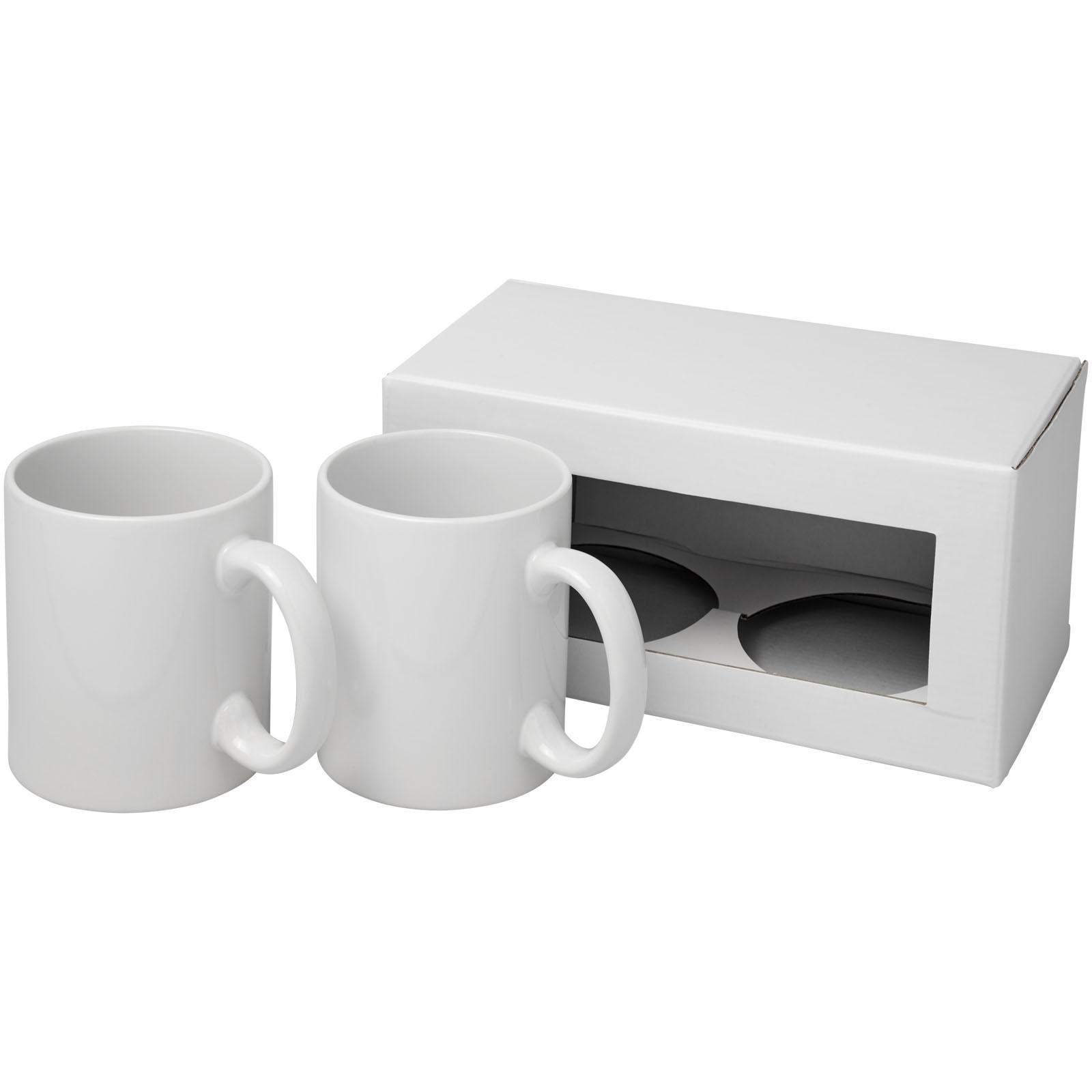 Ceramic sublimation mug 2-pieces gift set - White