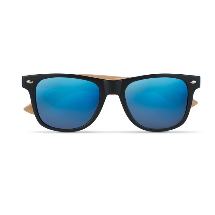 Sunglasses with bamboo arms California Touch - Blue