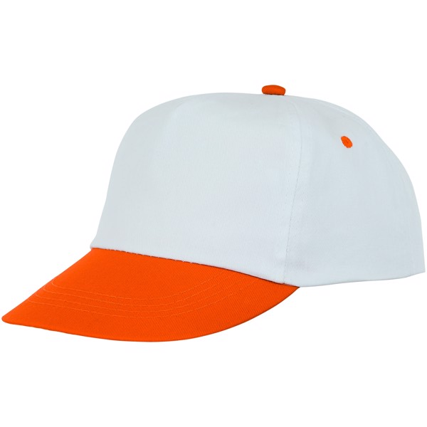 Icarus 5 panel duotone cap - Orange / White