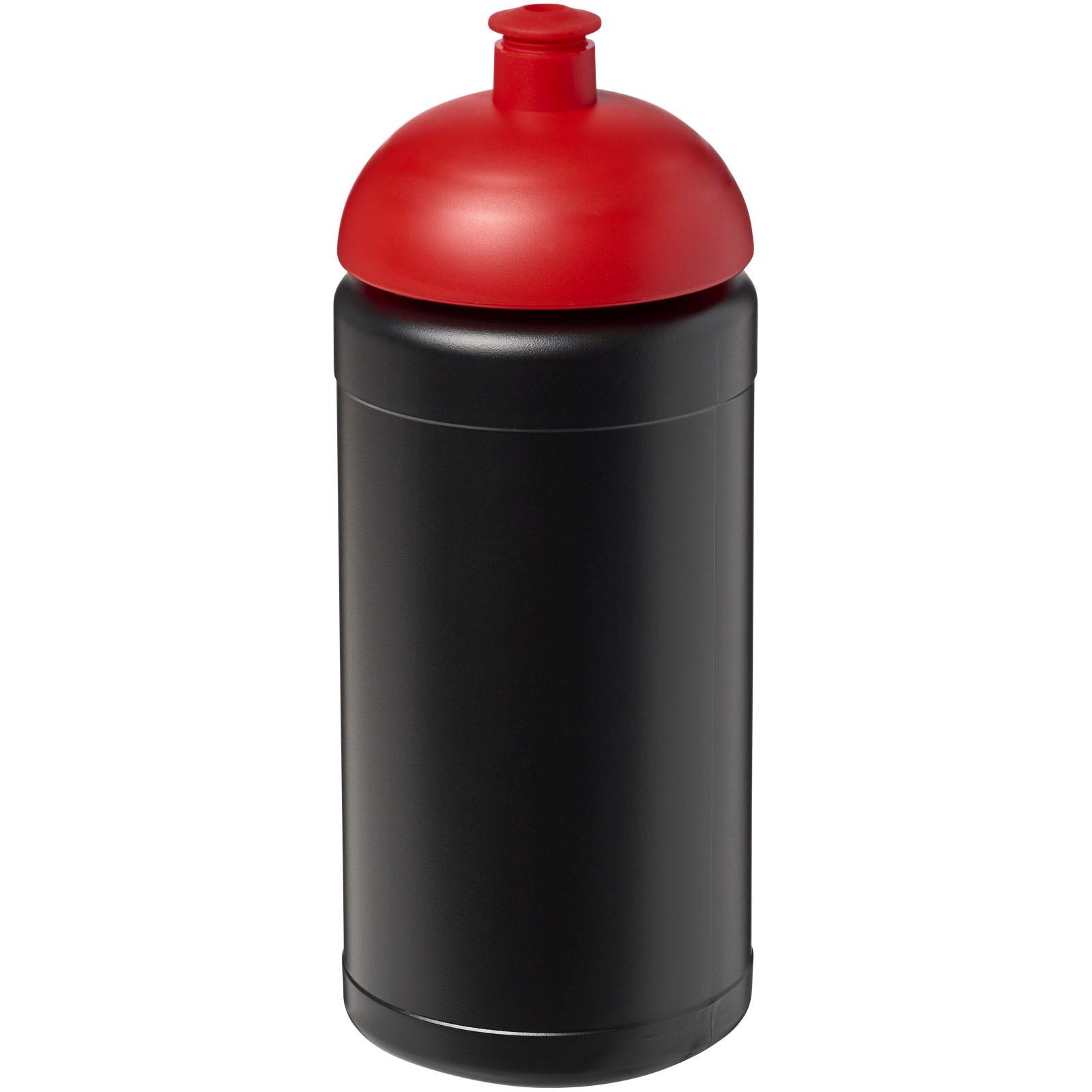 Sportovní láhev s kupolovitým víčkem Baseline® Plus 500 ml - Černá / Červená s efektem námrazy