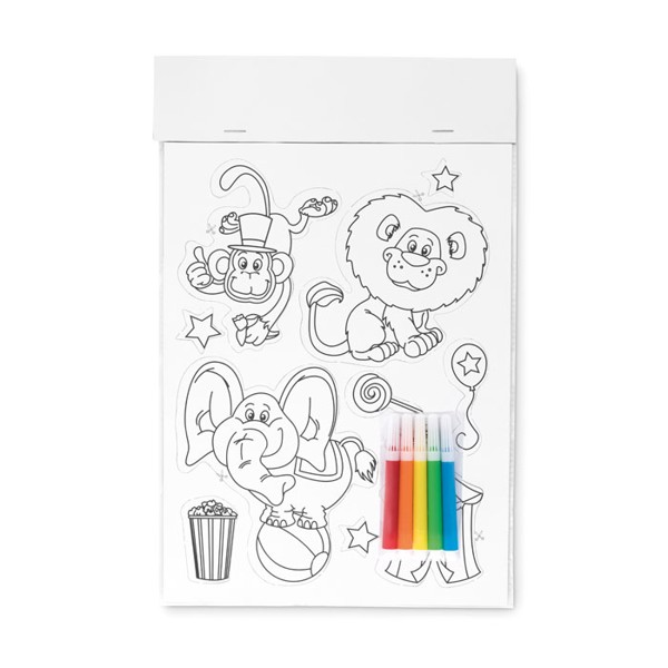 Colouring magnetic stickers Magcolour