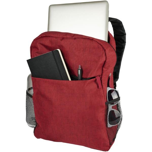 """Hoss 15""""  Laptop-Rucksack - heather dunkelrot"""