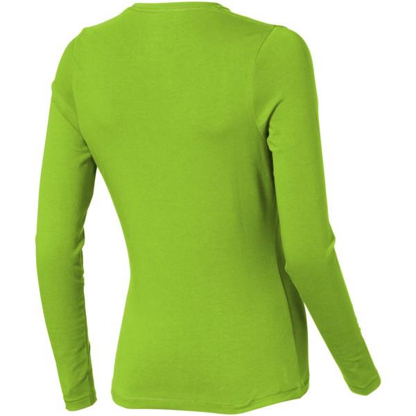 Dámské triko Ponoka s dlouhým rukávem, organická bavlna - Zelené jablko / S