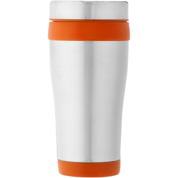 Elwood 410 ml insulated tumbler - Silver / Orange