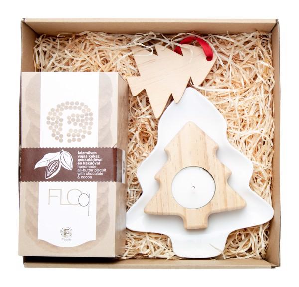 Biscuit Gift Set Matbit, Christmas Tree - Natural