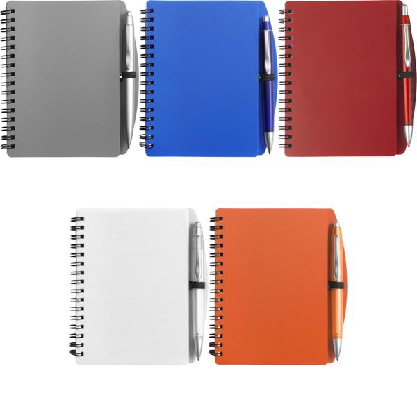 PP notebook with ballpen - Orange