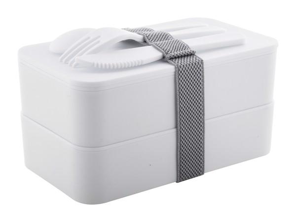 Anti-Bacterial Lunch Box Fandex - White / Grey