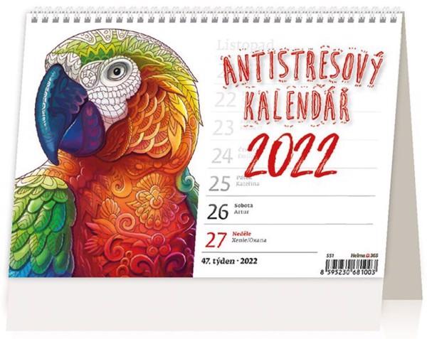 Týdenní kalendář Antistresový pracovní 2022