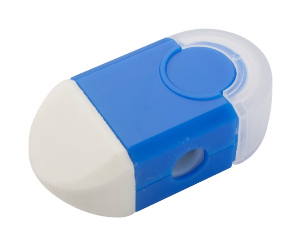 Eraser And Sharpener Cafey - Blue / White