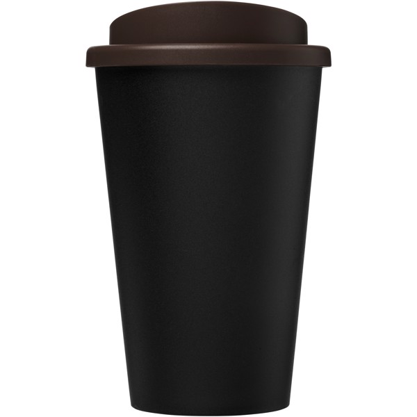 Americano Eco 350 ml recycled tumbler - Solid black / Brown