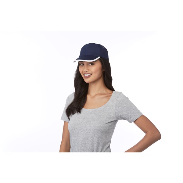 Nestor 5 panel cap with piping - Blue / White