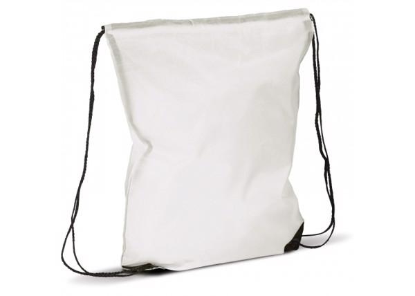 Drawstring bag premium - White
