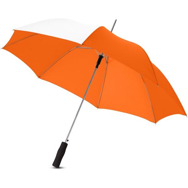"""23"""" skládací deštník Tonya s automatickým otvíráním - 0ranžová / Bílá"""