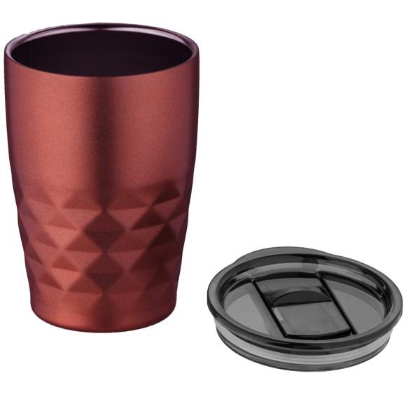 Geo 350 ml copper vacuum insulated tumbler - Red