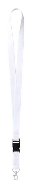 Lanyard Kunel - Bílá / Stříbrná