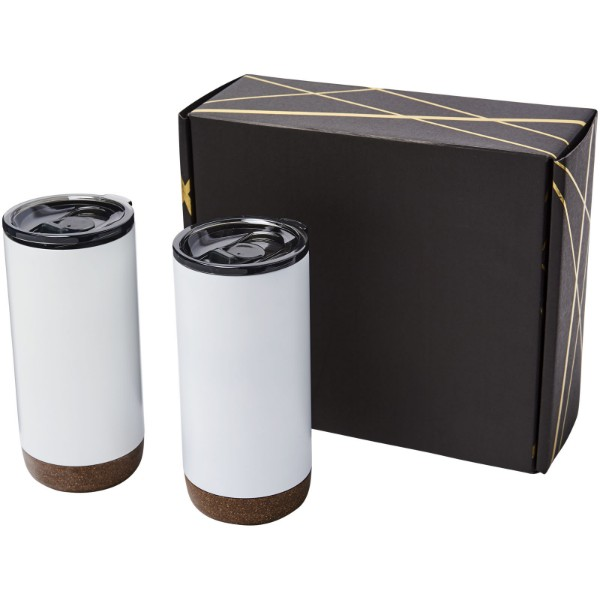 Valhalla tumbler copper vacuum insulated gift set - White