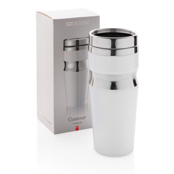 Contour ivópohár - Fehér / Ezüst Színű