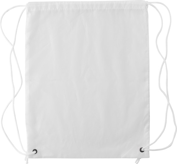 Polyester (190T) drawstring backpack - White