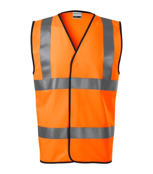 Bezpečnostní vesta unisex Rimeck HV Bright - Fluorescenční Oranžová / M