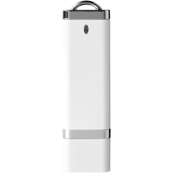 Flat 4GB USB flash drive - White
