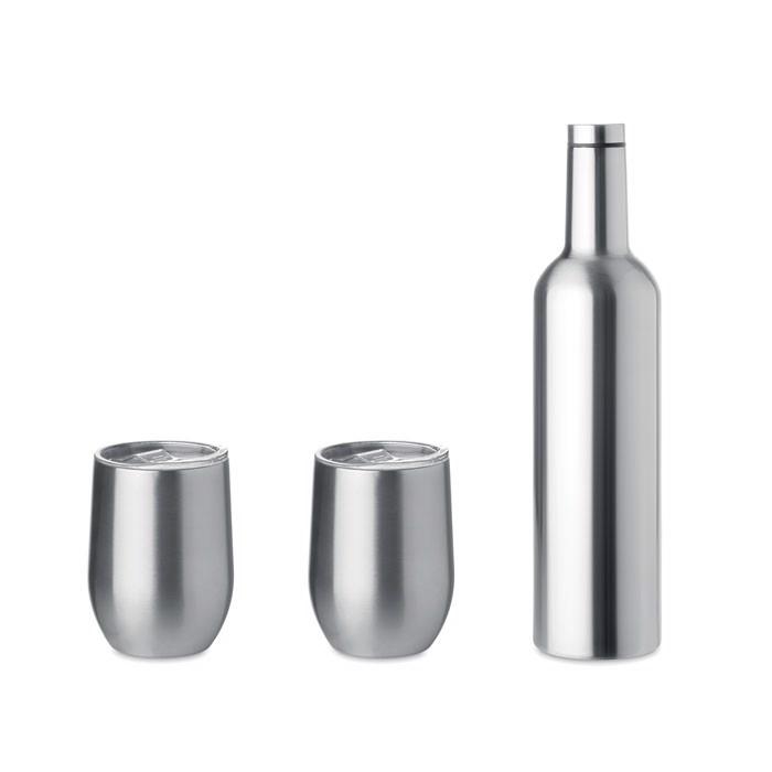 Komplet z dvostensko steklenico in skodelicama Chin Set