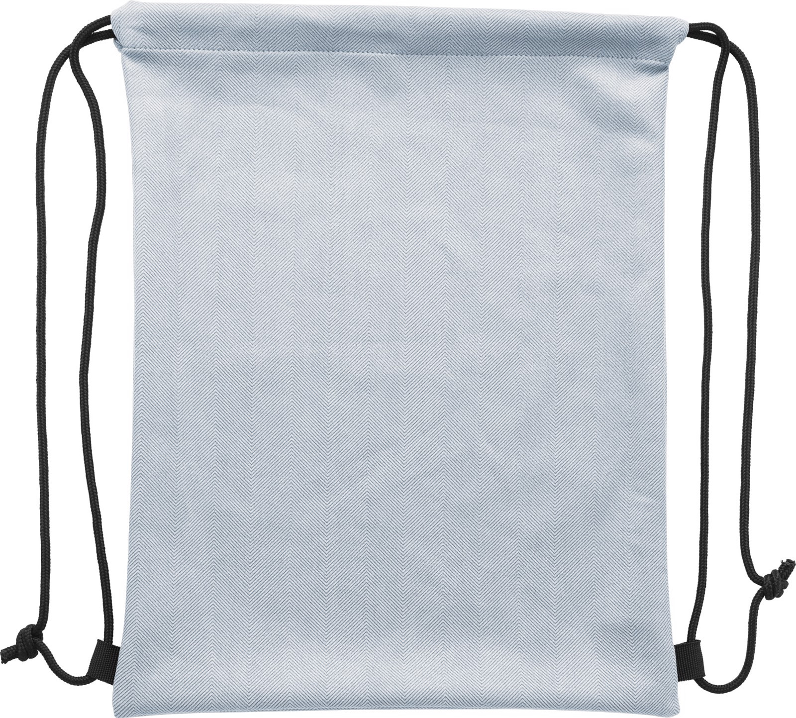 Polyester (210D) drawstring backpack - Silver