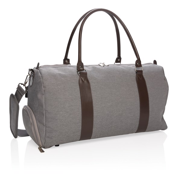 Weekend bag with USB output - Grey