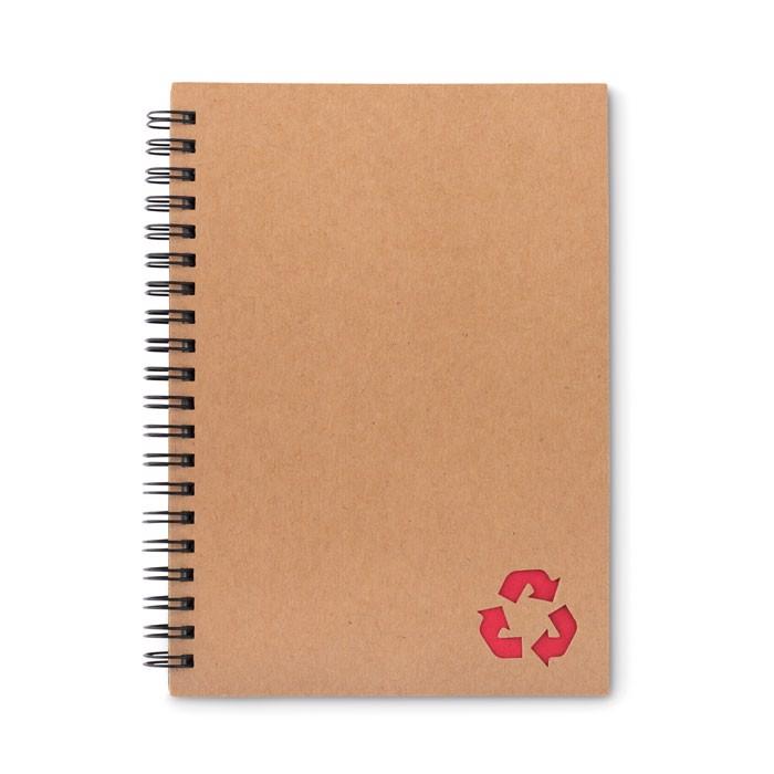 Notizbuch mit Steinpapier Piedra - rot