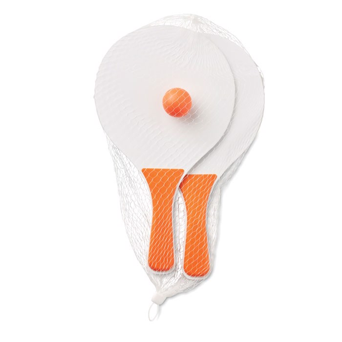 Small Beach tennis set Mini Match - Orange