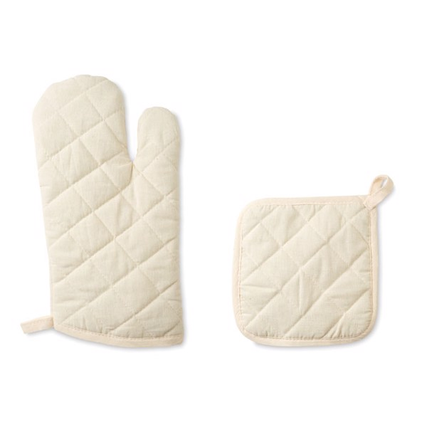 Oven glove and pot holder set Mitty