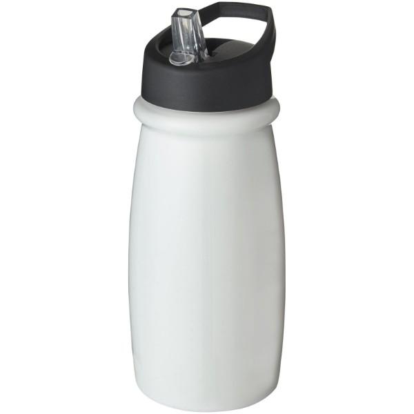 Sportovní láhev svíčkem shubičkou H2O Pulse 600 ml - Bílá / Černá