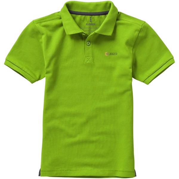 Calgary short sleeve kids polo - Apple Green / 104