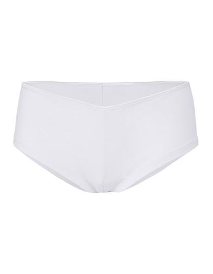 Women`S Cotton Stretch Shortie - White / XL