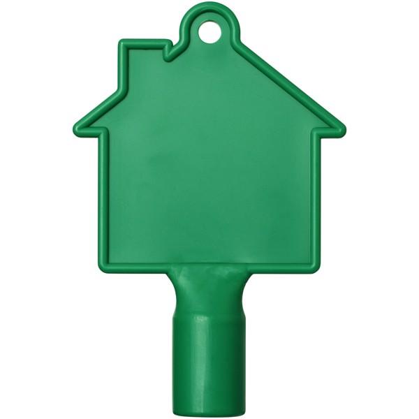 Klíč na měřidla ve tvaru domu Maximilian - Zelená