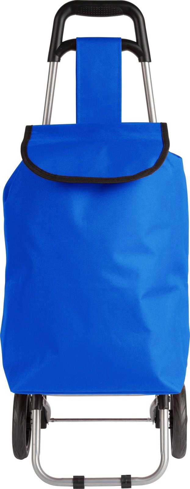 Polyester (600D) shopping trolley - Cobalt Blue