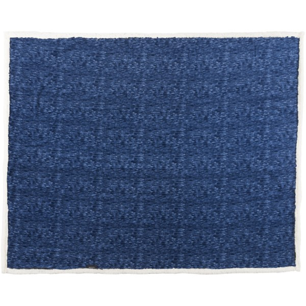 Sam heathered fleece plaid blanket - Navy