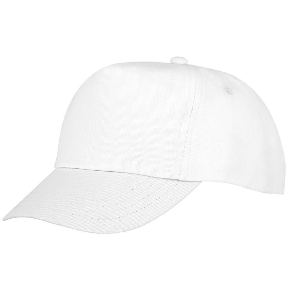 Feniks kids 5 panel cap - White