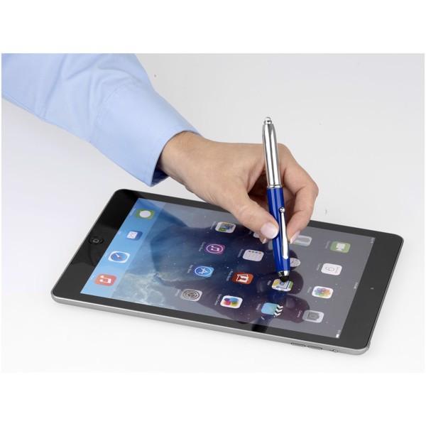 Xenon Stylus Kugelschreiber mit LED Licht - Royalblau / Silber