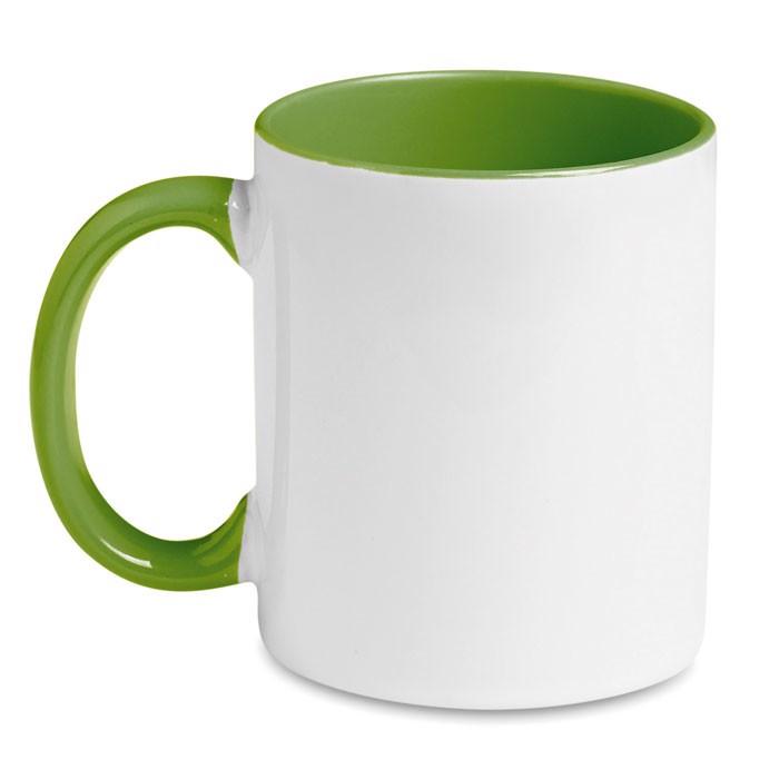 Hrnek k barevné sublimaci Sublimcoly - green