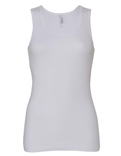 Baby Rib Tank Top - White / L