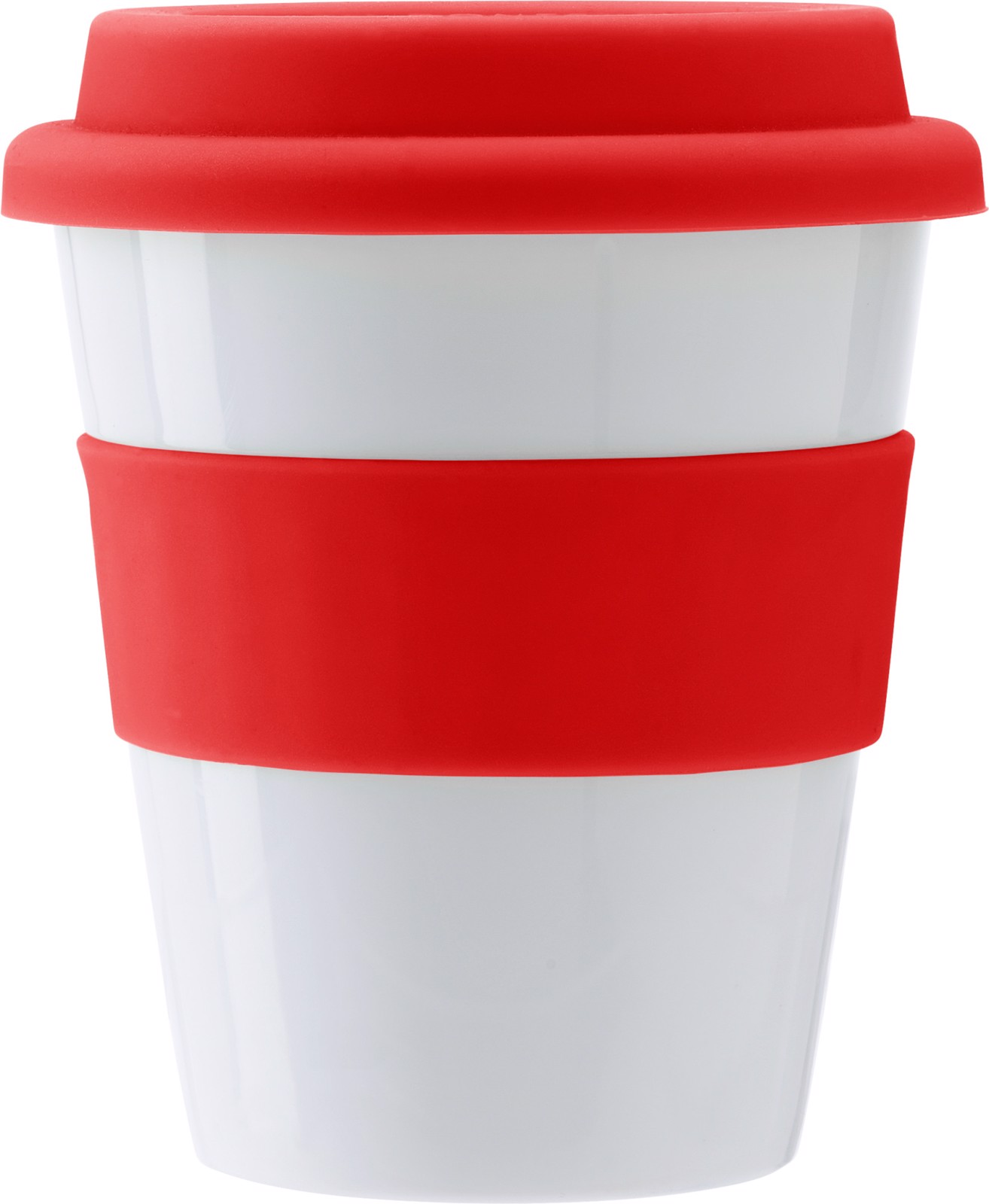 PP plastic drinking mug - Red