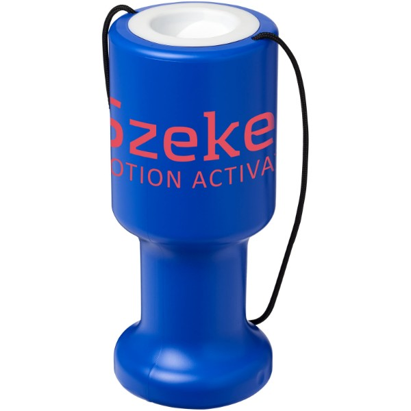 Asra hand held plastic charity container - Blue