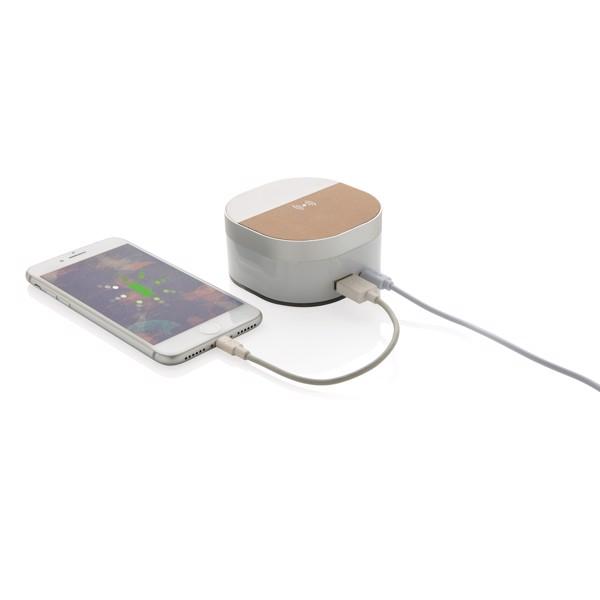 Bezdrátově nabíjecí digitální hodiny Aria 5W - Bílá