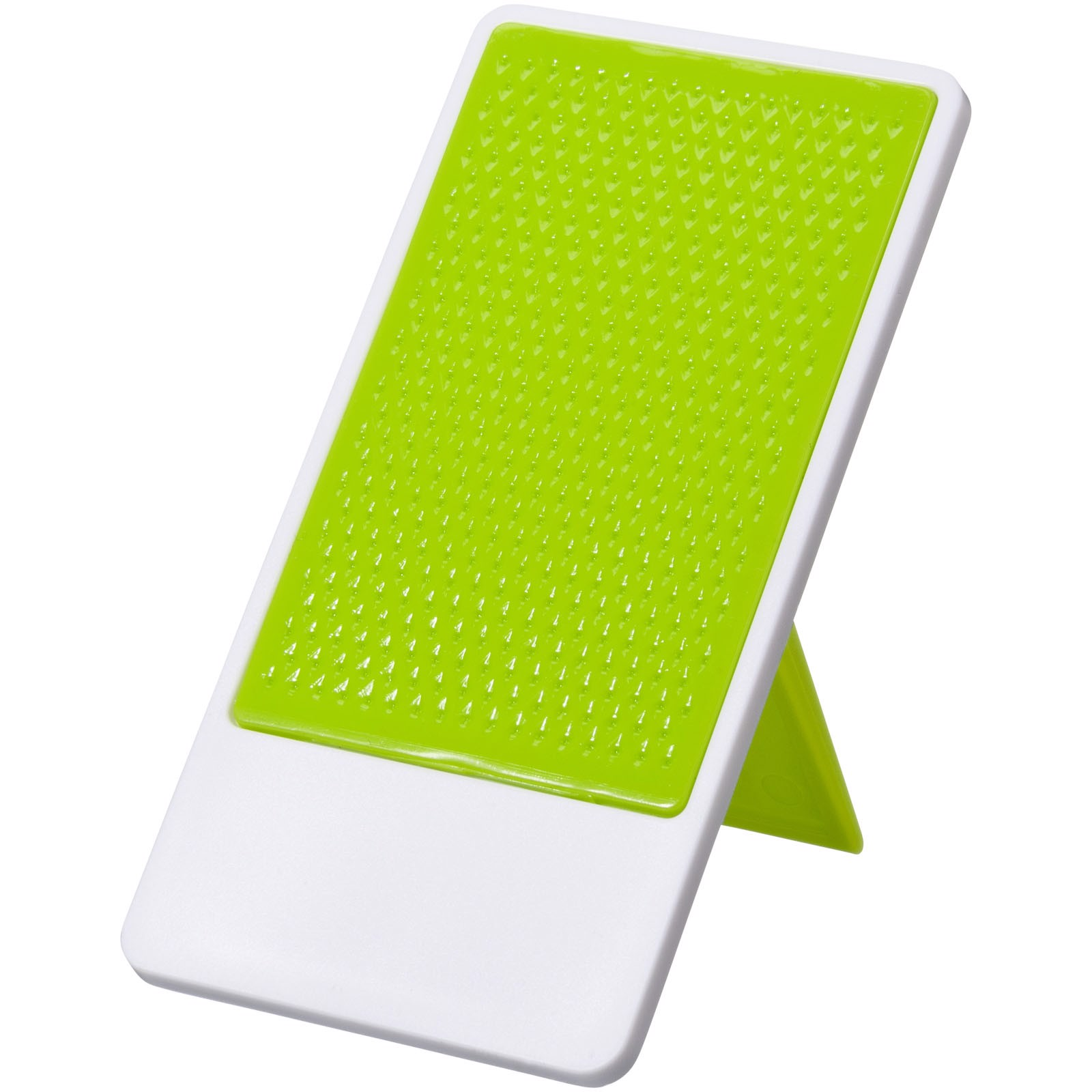 Flip smartphone holder with folding stand - Lime / White