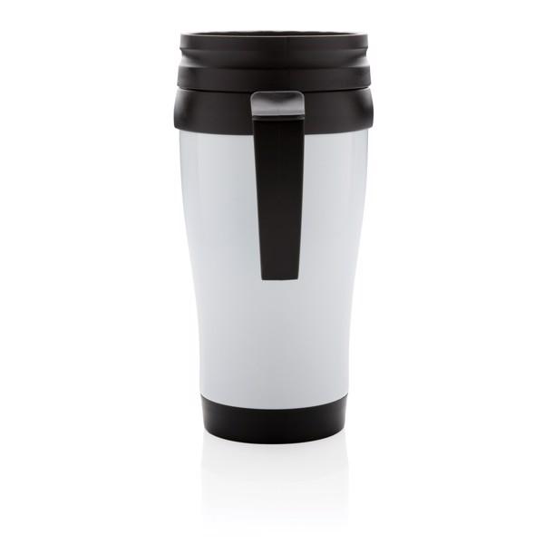 Stainless steel mug - White