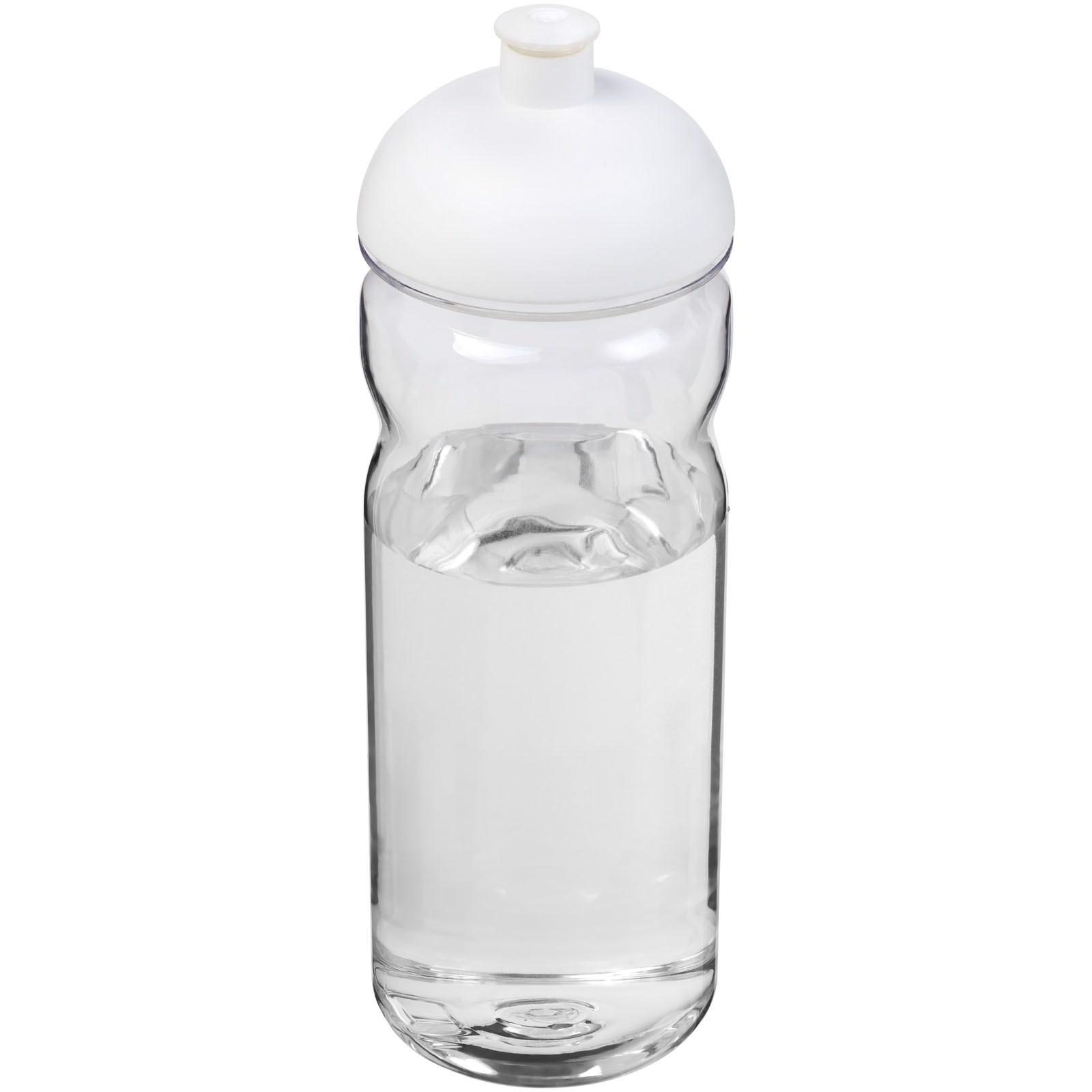 H2O Base Tritan™ Bidón deportivo con Tapa Dome de 650 ml - Transparente / Blanco