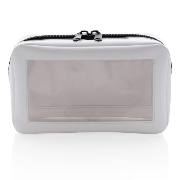 Průhledná toaletní taška - Bílá