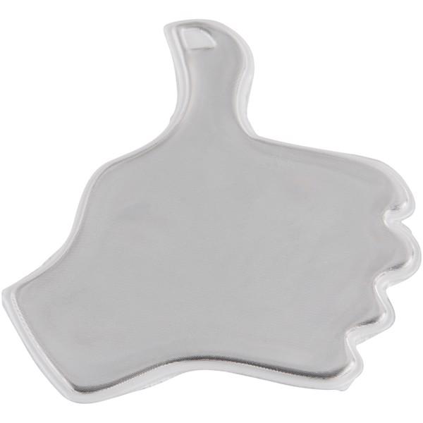 Reflexní samolepka palec - Bílá