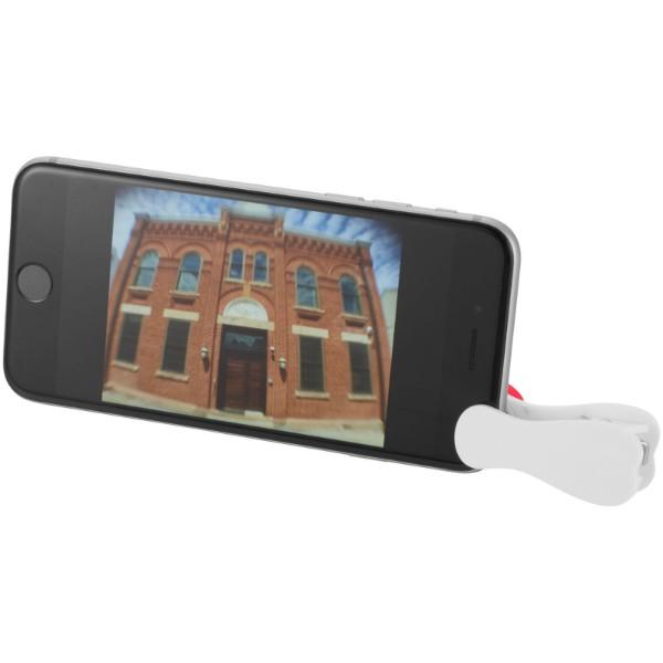 Makro čočka a širokoúhlá čočka s klipem - Bílá / Červená s efektem námrazy