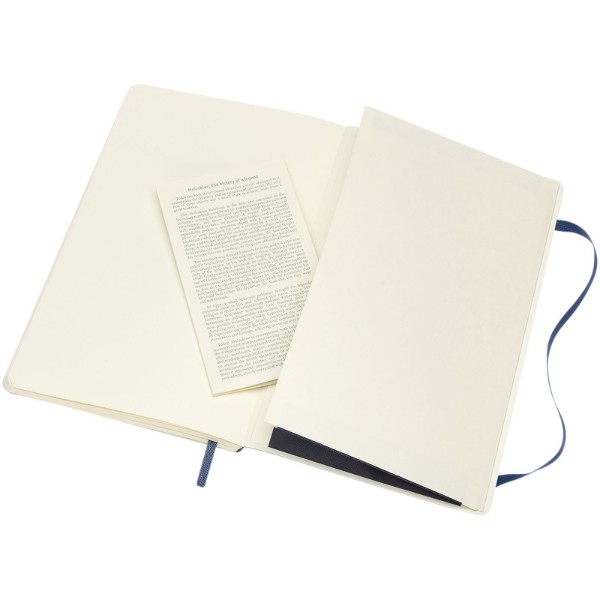 Classic L soft cover notebook - plain - Sapphire blue